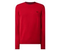 Pullover aus Woll-Baumwoll-Mix