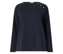 PLUS SIZE Sweatshirt mit Zierknopfleiste