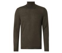Slim Fit Rollkragen-Pullover aus Merinowolle