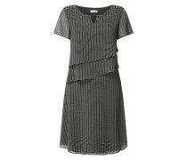 Kleid aus Chiffon mit grafischem Muster