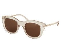 Sonnenbrille mit leicht transparentem Rahmen