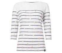 Shirt mit Muster in Metallicoptik