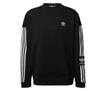 Sweatshirt aus Baumwolle mit Kontraststreifen