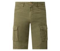 Regular Fit Shorts aus Leinen-Baumwoll-Mix Modell 'Povl'