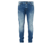 Skinny Fit 5-Pocket-Jeans im Used Look