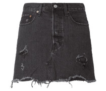 DECONSTRUCTED SKIRT - Coloured 5-Pocket-Jeansrock mit Destroyed-Effekten