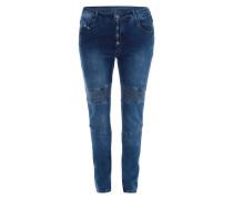 PLUS SIZE - Slim Fit Jeans mit Ziernähten