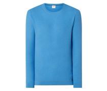 Body Fit Pullover aus Baumwollmischung