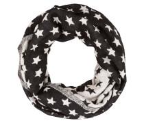 Loop-Schal mit Sternmuster und Glitter-Effekt