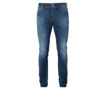 Slim Fit Jeans im Used Look - 34er Beinlänge