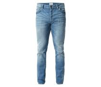 Slim Fit Jeans im Destroyed Look