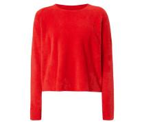 Boxy Fit Pullover mit Herz-Motiv