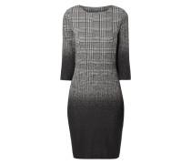 Jerseykleid mit Karomuster und Farbverläufen