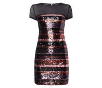 Kleid mit Streifenmuster aus Pailletten