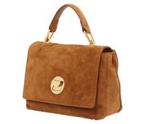Liya Suede-Handtasche aus Veloursleder