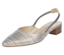 Sling Ballerinas in Metallicoptik