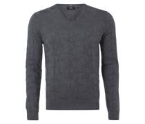 Pullover mit strukturiertem, grafischem Muster