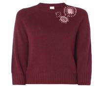 Pullover mit Blumen aus Ziersteinen