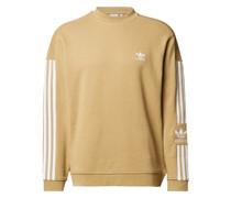 Sweatshirt mit Label-Streifen