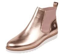 Chelsea Boots aus Leder in Metallicoptik