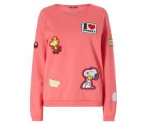 Sweatshirt mit Peanuts©-Aufnähern