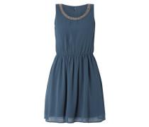 Kleid mit Zierperlenbesatz