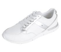 Sneaker aus Leder mit Einsätzen aus Mesh