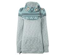 Sweatshirt mit Ethno-Muster und Einsatz aus Strick