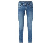 Straight Fit Jeans mit Stretch-Anteil Modell 'Gen'