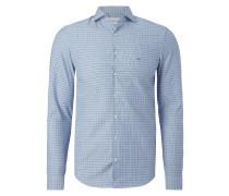Slim Fit Hemd mit Webmuster