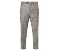 Slim Fit Anzug-Hose mit Glencheck