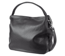 Hobo Bag aus genarbtem Leder