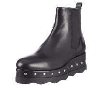 Chelsea Boots aus Leder mit Plateausohle
