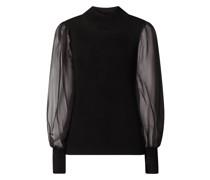 Pullover mit Ärmeln aus Chiffon Modell 'Yasmelanie'