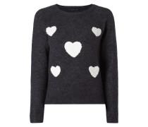 Pullover mit Herzen aus Frottee