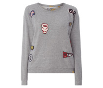 Sweatshirt mit Motiv-Aufnähern