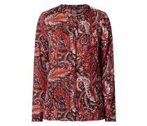 Bluse aus Krepp mit Paisley-Muster