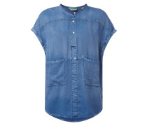 Oversized Bluse in Jeansoptik