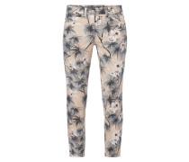 Cropped Jeans mit exotischem Muster