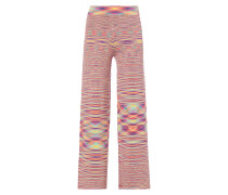 Flared Cut Hose mit Allover-Muster