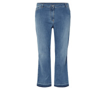 PLUS SIZE - Stone Washed Boot Cut Jeans