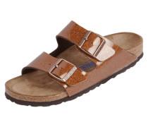 Sandalen in Lackoptik mit Glitter-Effekt