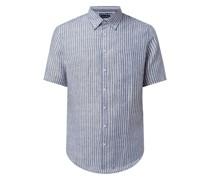 Regular Fit Leinenhemd mit kurzem Arm