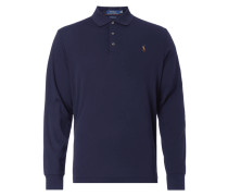 Custom Slim Fit Poloshirt mit langen Ärmeln