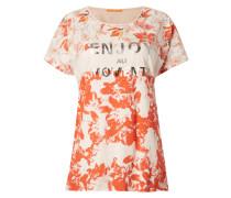 Shirt mit Muster und Message-Print