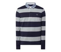 Poloshirt aus Baumwolle mit langem Arm