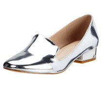 Loafer aus echtem Leder in Metallicoptik