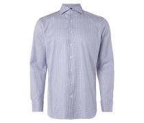 Regular Fit Business-Hemd mit Gittermuster