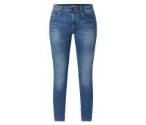 Cropped Slim Fit Jeans mit Stretch-Anteil Modell 'Kimberly'