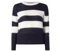 Pullover aus Alpakamischung mit Streifenmuster
